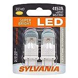 SYLVANIA - 4157 ZEVO LED Amber Bulb - Bright LED Bulb, Ideal for Park and Turn Lights (Contains 2 Bulbs)