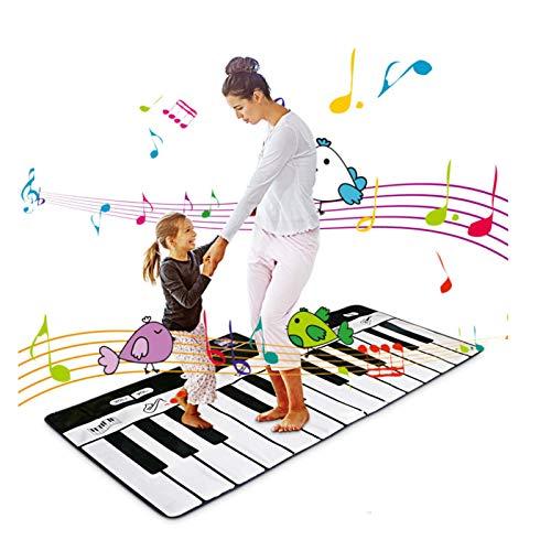 AAFF Piano Matte Tanzmatten Klaviermatte Musikmatte, Kinder Klaviertastatur Spielzeug Musik Matte, 24 Keyboard Matten Spielteppich Jungen Mädchen Kinder 100 * 36 cm