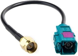 GPS Antennenadapter von Fakra (F/Buchse) auf SMA (M/Stecker)   geeignet für DVB T, DAB, GSM, FM, AM etc. (Kabellänge ca. 130mm)