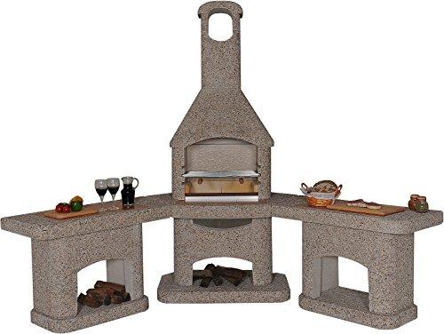 Wellfire Nova Grillkamin Außenküche braun