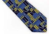 Zunftbedarfde Dental Krawatte blau/gelb