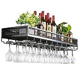 Muebles de Bar Estante de Vino montado en la Pared, Rejilla Creativa Que cuelga el sostenedor de la Bandeja de la Copa de Vino Unidad de la decoración de la Pared