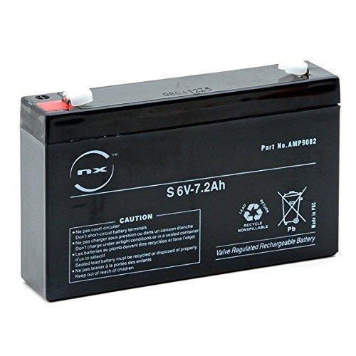 NX - Batería Plomo AGM 7.2-6 General Purpose 6V 7.2Ah F4.8