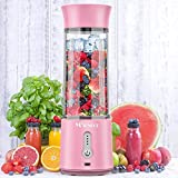 MOSUNECE Portable Blender, 17 Oz Personal Blender for Shakes and...