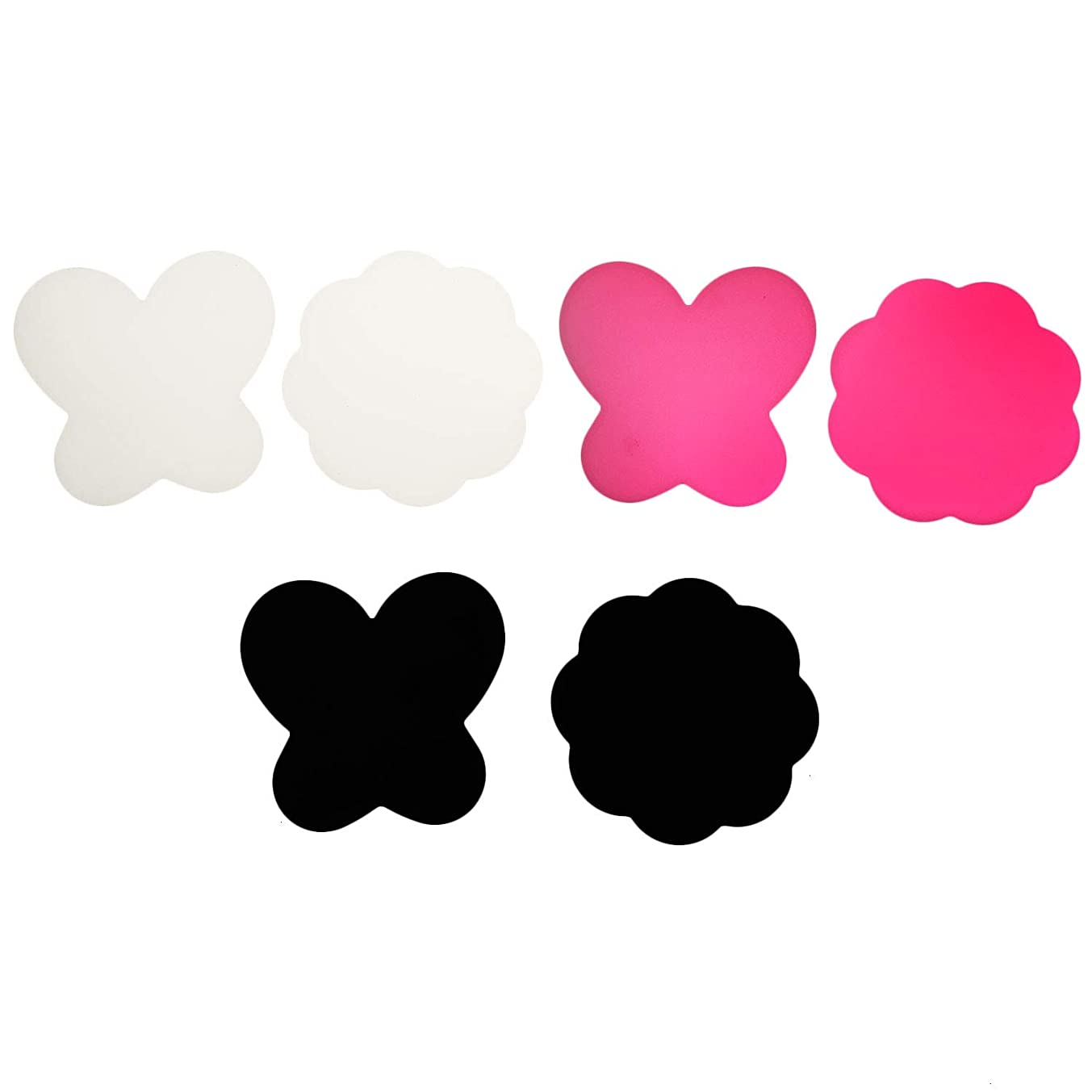 Monrocco 6 pcs Silicone Nail Art Palette Mat Mixing Paint Palette Nail Art Stamping Pad