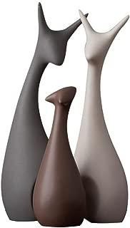 Ctystallove Home Decor Accessories Animal Porcelain Ornaments Ceramic Crafts Art Figurines (Deer)