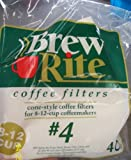 Brew Rite #4 8-12 Cup Cone Style Coffee Filters
