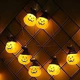 XMCHE Halloween Zucca Lanterne luci 10/20/40 3D Zucca Stringa LED Si Illumina for la Luce Decoration Day Halloween Party all Saints' (Emitting Color : Warm White, Wattage : 6m 40leds)