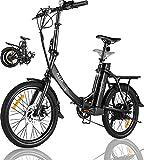 KGK Adult Folding Electric Bike 20'' Electric Mountain Bike for Women...