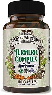 Dr Benjamin Rush 95% Organic Turmeric Curcuminoids
