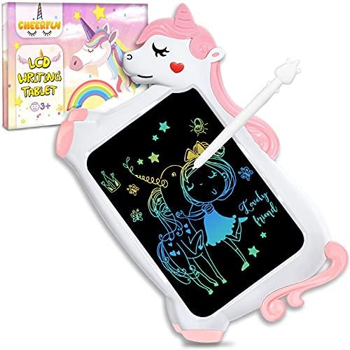 Licorne Jouet Enfant Fille Cadeau - Tablette Dessin Enfants Jeux Educatif Jouet Fille 3 4 5 6 + Ans Creatif, Cadeau Anniversaire Fille Calendrier de L avent 10 Inch Tablette Educative Tableau Magique