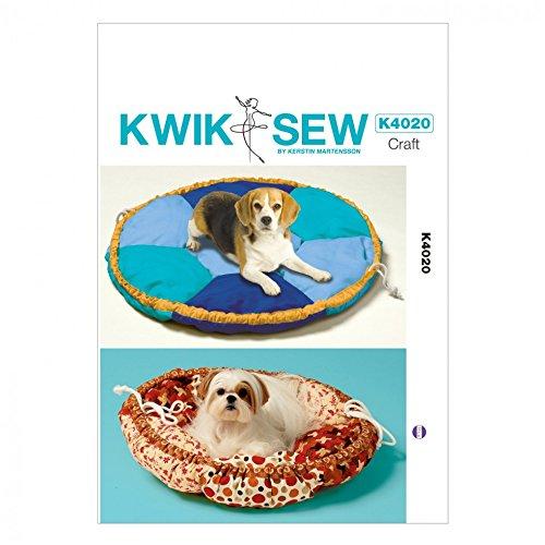 Kwik Sew Homeware Schnittmuster 4020Hundebett in 2Größen + GRATIS Minerva Crafts Craft Guide