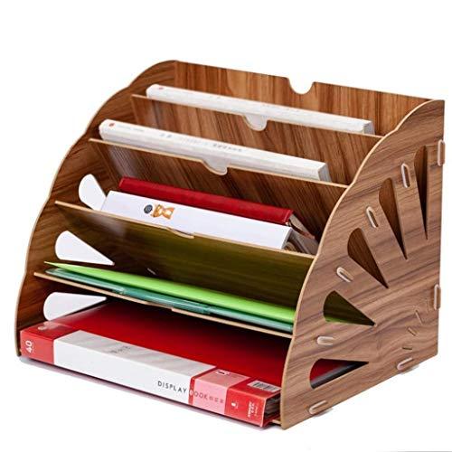 WULIHUA Magazine Holders File Sorter Organizer 5 Tier, Postbrief Dokument Magazine Dateiordner Halter, Office Desktop Organizer Schreibtisch File Organizer