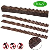 PINVNBY Defender Spikes Cat and Bird Repellent Bird Repellent Anti-Climb Security Spikes Prevent Birds Cat and Small Animals from Entering Your Yard Security for Fence, Railing, Walls and Roof(10
