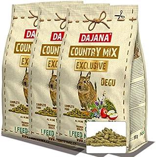 デグー専用オーガニックフード1.5kg(賞味期限2022/6 500g×3袋) 低脂肪低糖質レシピで肥満や糖尿病を予防します。デグーに最適なオーガニックフード
