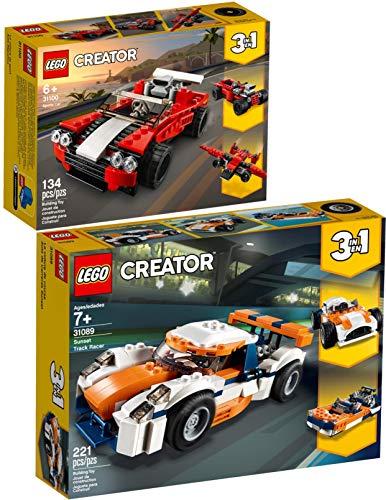 Creator Lego 3-in-1 2er Set 31089 31100 Rennwagen + Sportwagen