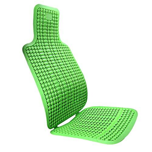 BESPORTBLE Atmungsaktives Autositzkissen Sommer Bequemer Sitzbezug Rückenstütze Stützkissen für Sommer Autozubehör (Grün)