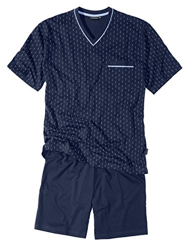 Götzburg Herren Shorty, Kurzarm, Baumwolle, Single Jersey, Navy, Bedruckt 56