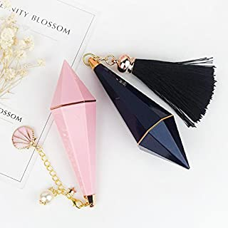 EASY LIFE EASY BUY Empty Diamond Shape Lip Tube Unique Design with Tassels and Shell Balm Containers Lipstick Tube Lipstick Maker Makeup Cosmetic DIY Tool (Pack of 10, Pink)