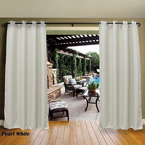 Cross Land Vorhänge für den Außenbereich, Streifen, für Terrassentür, Perlweiß, 137,2 x 243,8 cm