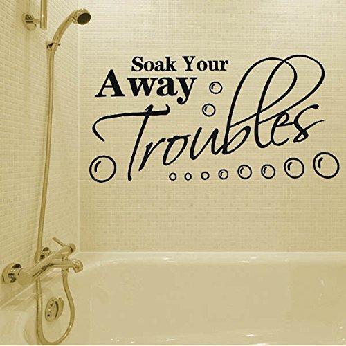 Bazaar Sticker mural salle de bains tremper vos soucis motif de décoration