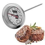 Westmark 12692270 Thermomètre à Viande Analogue, Acier Inoxydable, Argent, 14,5 cm