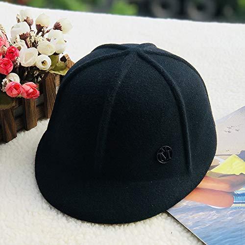 WAZHX Gorra De Béisbol De Lana para Hombres Y Mujeres Gorras De Moda para Todo Fósforo Sombrero para El Sol Sombrero para El Sol Ajustable 2
