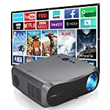 Native 1080P LED Projector with Bluetooth WiFi, 7000Lumen Full HD 1920x1080 Support 4K