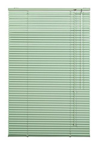 Lichtblick Jalousie Aluminium, 60 cm x 220 cm (B x L) in Grün, Sonnen- & Sichtschutz, Aber auch Verdunkelungs-Rollo, für Fenster & Türen