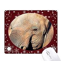 陸生生物の象の野生動物 オフィス用雪ゴムマウスパッド