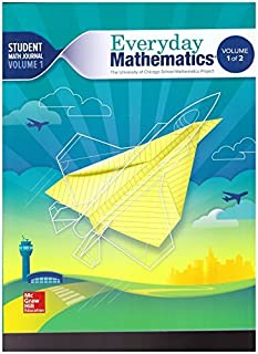 The University of Chicago School Math Project - Everyday Mathematics - Grade 5 - Student Math Journal - Volume 1 - 0021430993-9780021430994 by Balfanz Bell Bretzlauf Burns (2014-08-01)