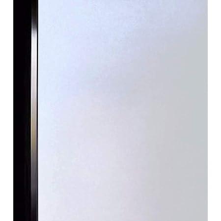 DUOFIRE 窓 めかくしシート 窓用フィルム すりガラス調・インテリア ガラスフィルム 水で貼る・貼り直し可能目隠しシート 断熱遮熱シート UVカット 艶消し白い色 DS001W (0.9M X 2M)