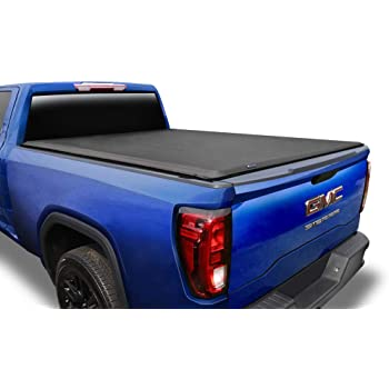 "Tyger Auto T1 Roll Up Truck Tonneau Cover TG-BC1C9006 Compatible with 2014-2018 Chevy Silverado / GMC Sierra 1500; 2019 LD/Limited Only | Fleetside 5'8"" Bed 