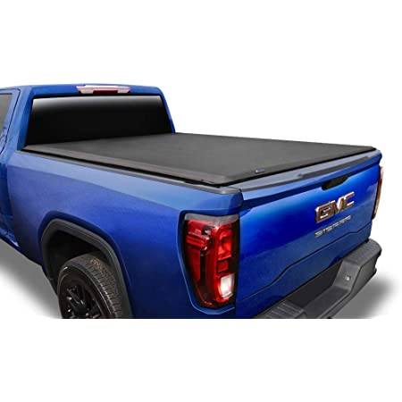 Silverado Sierra 5.8 FT Bed Truck Tonneau Cover 44214550 Chevy Rough Country Soft Tri-Fold Fits 2014-2018 GMC