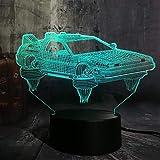 Aficionados al cine Recuerdo Regreso al futuro Coche 3D LED Luz nocturna Lámpara de mesa de cambio de 7 colores multicolor calendario de adviento 2020 DUYAO00