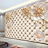 Papel pintado Mural personalizado 3d relieve Magnolia pájaro tela de pared blanca sala de estar sofá TV pegatinas de pared decoración del hogar papel tapiz 3D*250cmx175cm(98.4x68.9inch)