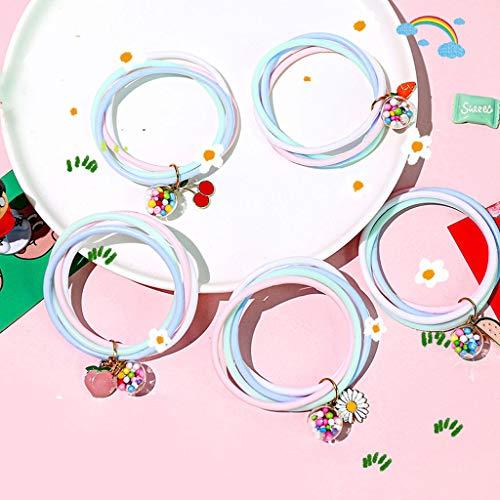 wkwk 5 pièces de Bracelet Anti-Moustique,été Mignon Bracelet Anti-Moustique Pendentif Bracelet Anti-Moustique Nouveau artefact Anti-Moustique de Voyage en Plein air