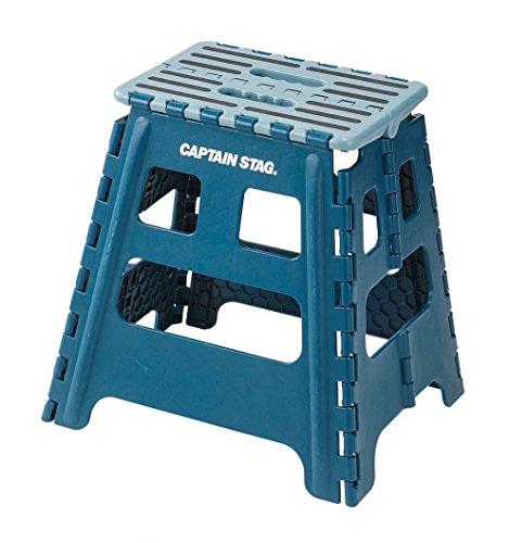 キャプテンスタッグ(CAPTAIN STAG) 踏み台 ステップ 椅子 折りたたみ ステップ Lサイズ ブルー UW-1505
