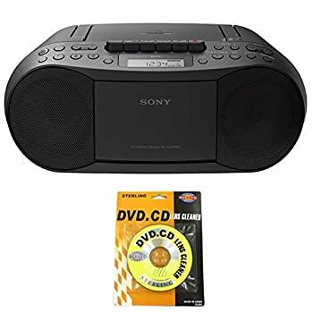 Sony Portable Full Range Stereo Boombox Sound System with MP3 CD Player AM/FM Radio 30 Presets Headphone and AUX Jack - Bonus DB Sonic CD Head Cleaner