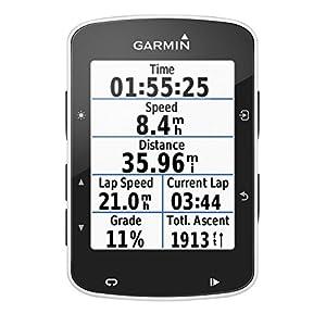 Garmin Edge 520 Pack - Ciclocomputador con GPS, Incluye Monitor de frecuencia Cardiaca, sensores de cadencia y Velocidad, Negro