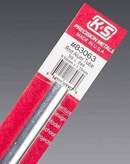 K&S Precision Metals 83063 Round Aluminum Tube, 3/8