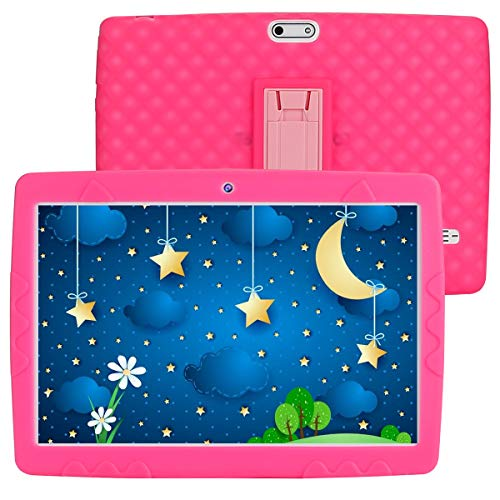 SANNUO Tablet per bambini 10 pollici Android 10.0 tablet, RAM 3GB ROM 32GB,Supporta 3G Dual SIM wifi GPS, Batteria 5000mAh,Preinstallato con Kid-Proof Custodia