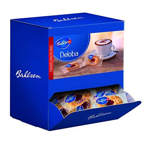 BAHLSEN Deloba 1,04 kg- Thekenaufsteller mit ca. 150 Portionspackungen, zartes Blätterteiggebäck mit aromatisch-fruchtiger Füllung, ideal zum Kaffee