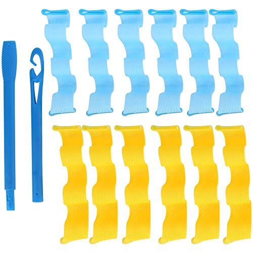 Rizador de pelo, kit de rizador de pelo en espiral de uso múltiple fácil de usar, rizador de pelo en espiral, herramienta de peinado de plástico para todas las edades