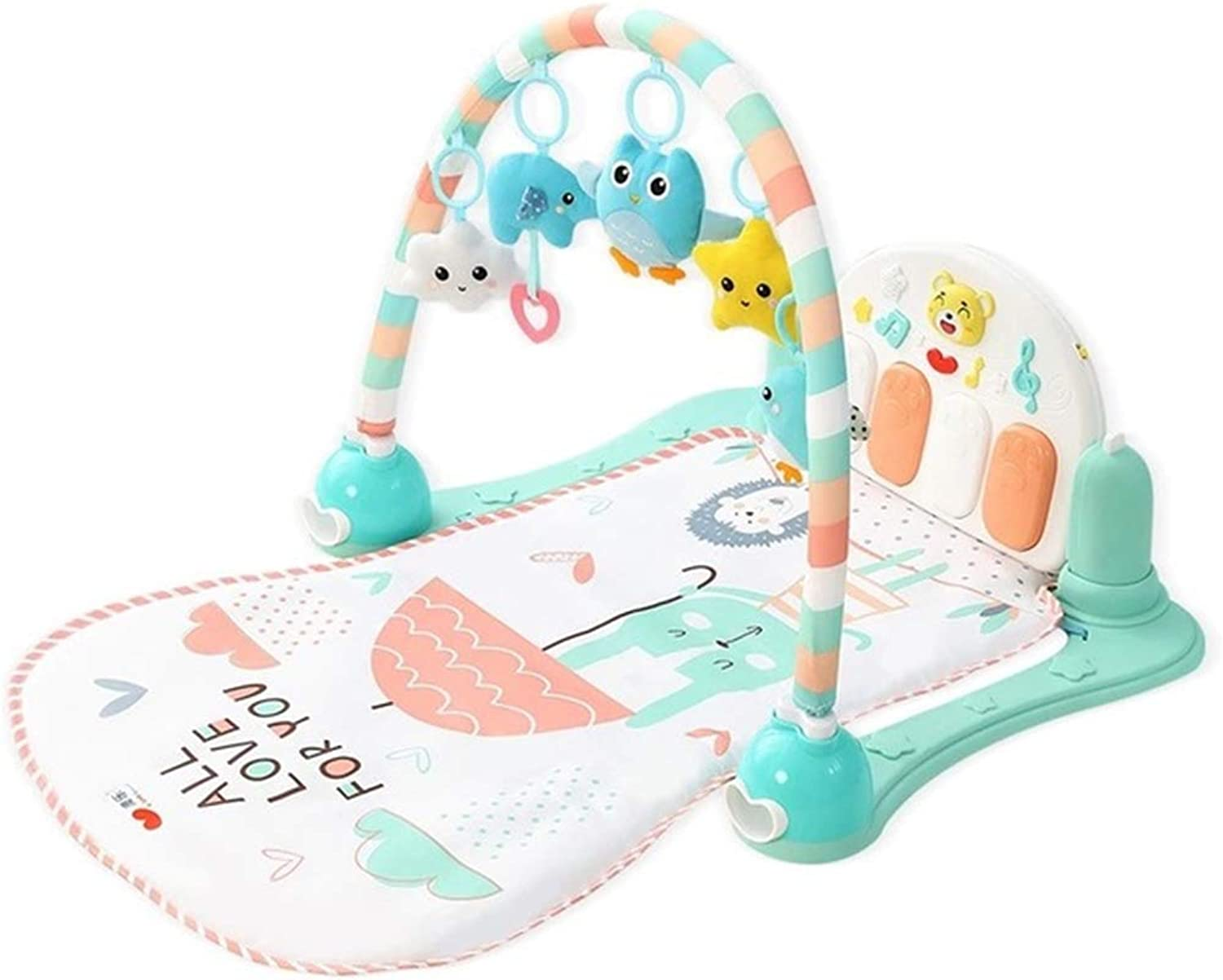 Mr. Fragile Baby Playmat,Play Gym,Fun Toy,Musical Activity Gym, for Infants Toddlers Newborn 036 Months,for baby gift