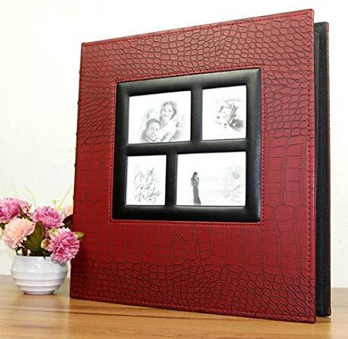 400 bolsillos Álbum de fotos deboda Funda de cuero de PU Familia grande Aniversario de bodas Crecimiento del bebé Memorial Turismo de vacaciones, Rojo vino, China