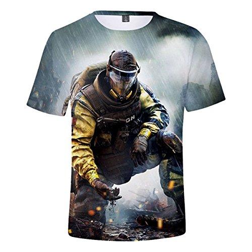 CTOOO 2018 Sommer Rainbow Six Seige 3D Herren T-Shirt Kurzarm Loose Fit XXS-XXXXL