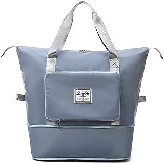 Large Capacity Folding Travel Bag, Lightweight Waterproof Foldable Tote Bag, Dry and Wet Separation Sports Shoulder Bag