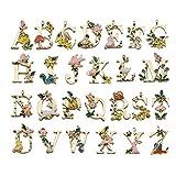 26pcs Alphabet Letter Charms Pendants Garden Fairy Flower Tale Princess Kids Children Style for Jewelry Craft DIY HM463