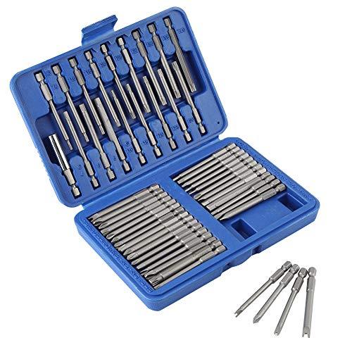 Bits Steel Destornillador-50pcs Destornillador eléctrico de acero Bits Ranura Cruz en forma de U Brocas hexagonales Socket Kit de herramientas eléctricas rotativas